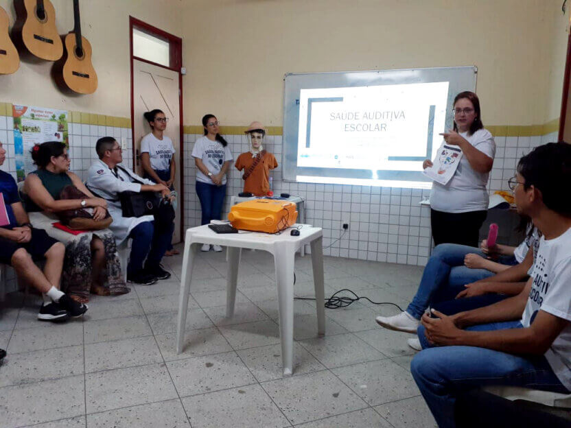 In reference to World Hearing Day, LAIS conducts activity in a municipal school in Macaíba/RN