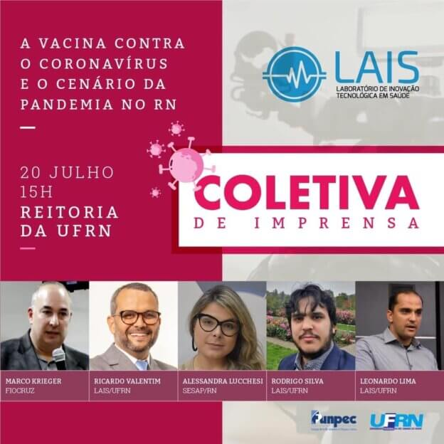 LAIS realiza coletiva de imprensa nesta segunda-feira (20)