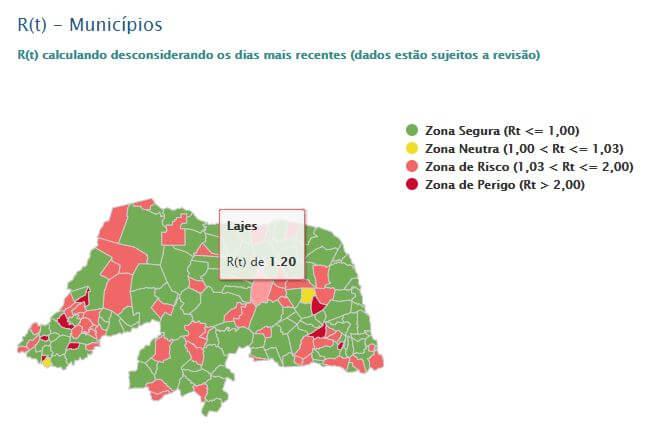 LAIS retifica valor da taxa de transmissibilidade do município de Lajes